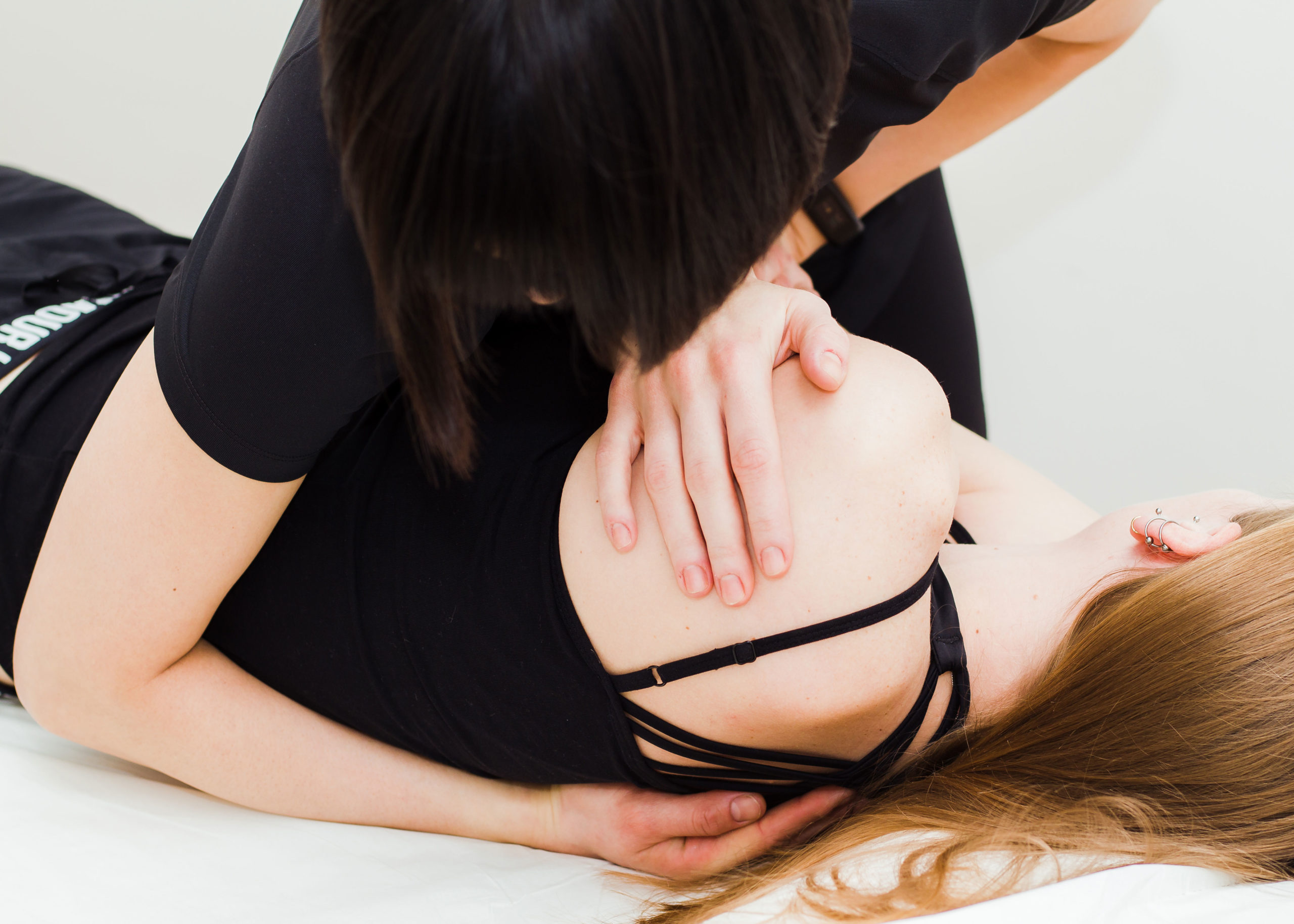 Jackie carrying out an osteopathic manipulation